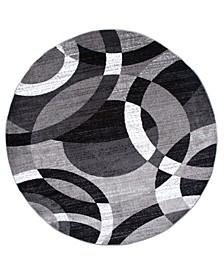 """Montane Mon105 Gray 6'6"""" Round Area Rug"""