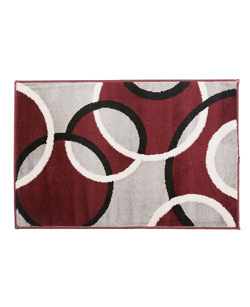 Main Street Rugs Home Alba Alb368 Red 2' x 3' Area Rug