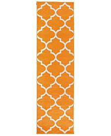 Home Elko Elk962 Orange 2' x 7' Runner Rug