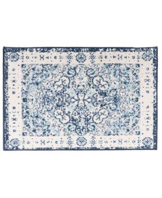 Home Lyon Lyn830 Blue 2' x 3' Area Rug