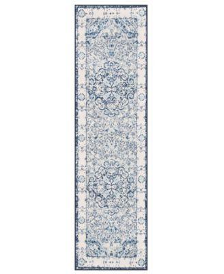 Home Lyon Lyn830 Blue 2' x 7' Runner Rug