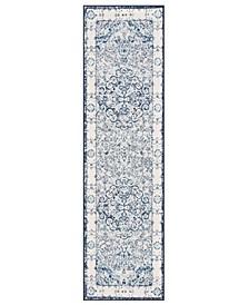 Lyon Lyn830 Blue 2' x 7' Runner Rug