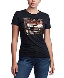 Metallic Buddha Graphic T-Shirt