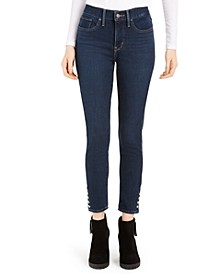Women's Studded Ankle Snap Jeans