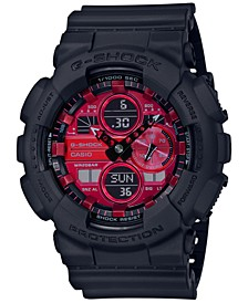 Men's Analog-Digital Black Resin Strap Watch 51.2mm