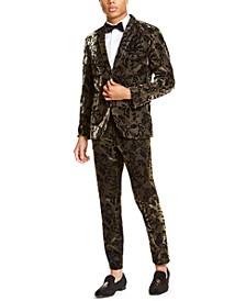 INC Men's Slim-Fit Flocked Metallic Blazer, Created for Macy's