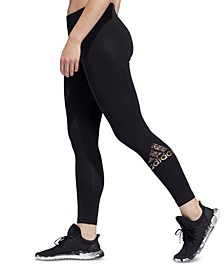 Women's Metallic Logo Leggings