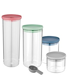 Leo Collection 4-Pc. Covered Container Set and Scoop