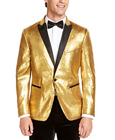 INC Men's Slim-Fit Micro-Sequin Blazer, Created For Macy's