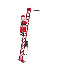 Oversized Stepping Santa