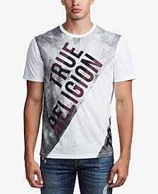 Men's Diagnol Blocked T-Shirt