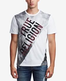True Religion Men's Diagnol Blocked T-Shirt