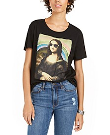 Juniors' Mona Lisa Graphic T-Shirt