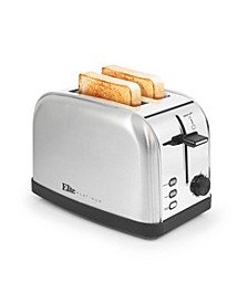 Stainless Steel 2 Slice Toaster, Bagel Defrost Cancel Functions, 7 Toast Shade Settings