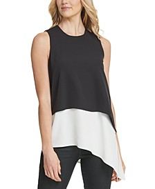 Layered-Look Asymmetrical Top