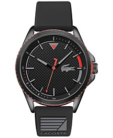 Men's Cap Marino Black Silicone Strap Watch 44mm