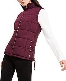 Lace-Up Puffer Vest