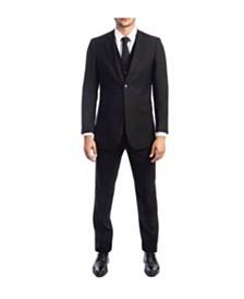 Tazio Men's Hybrid Fit Pin Stripe Notch Lapel Suit
