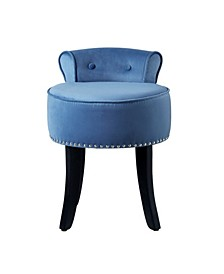 Taylor Upholstered Vanity Stool with Nailhead Trim