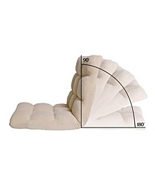 Loungie Microplush Folding Recliner Floor Chair