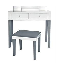 Juliet Mirrored Vanity and Stool Set