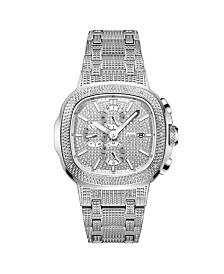 JBW Men's Diamond (1/5 ct. t.w.) Watch in Stainless-steel 48mm