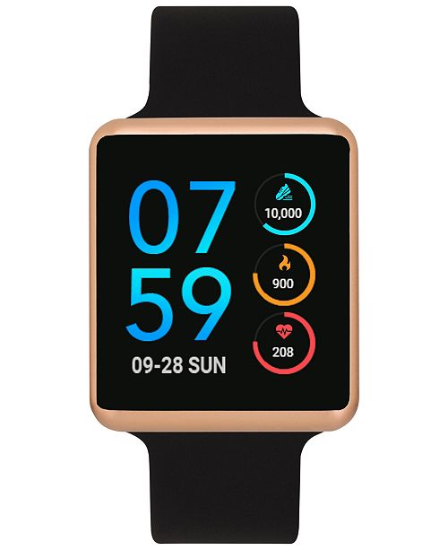iTouch Air Black Silicone Strap Touchscreen Smart Watch 35x41mm - A Special Edition