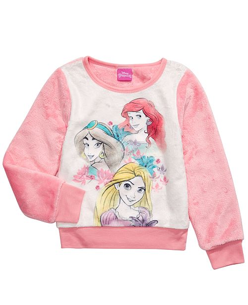 Disney Little Girls Princesses Sweatshirt
