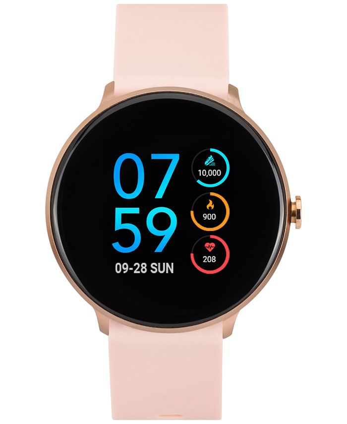 iTouch - Unisex Sport Blush Silicone Strap Touchscreen Smart Watch 43.2mm
