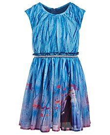 Little Girls Frozen Landscape Dress
