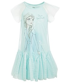 Little Girls Frozen True To Yourself Elsa Dress
