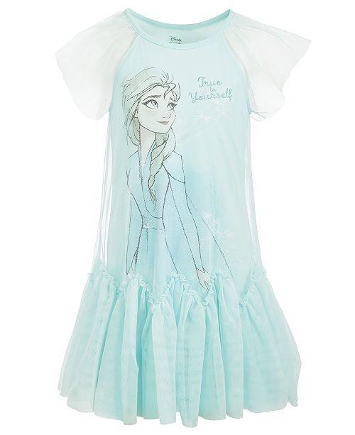 Evy of California Disney Toddler Girls True To Yourself Elsa Mesh Dress