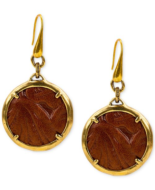 Patricia Nash Leather Drop Earrings