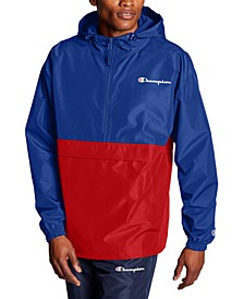 Men's Colorblocked Packable Half-Zip Jacket