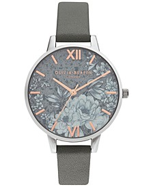 Women's Terrazzo Floral Gray Strap Watch 34mm