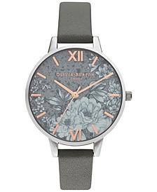 Women's Terrazzo Floral Gray Strap Watch 34mm