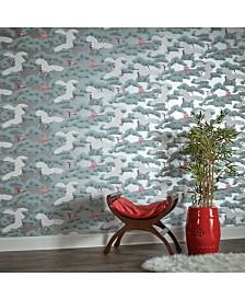 Tempaper Asain Toile Self-Adhesive Wallpaper
