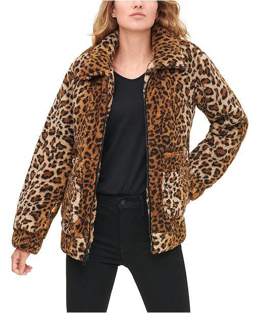 Levi's Women's Leopard Print Sherpa Jacket