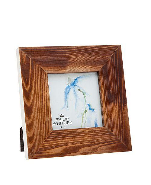 "Philip Whitney Wood White Edge Frame - 4"" x 4"""