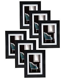 """5"""" x 7"""" Black Frame - Set of 6"""