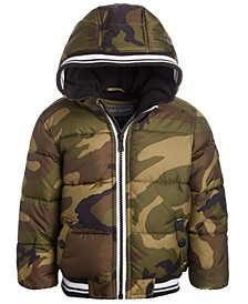 Baby Boys Hooded Camo-Print Puffer Jacket