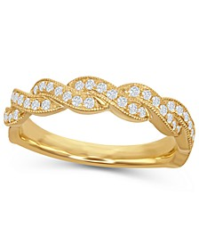 Diamond (1/3 ct. t.w.) Round Twist Band in 14K Gold