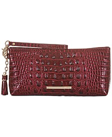 Kayla Melbourne Embossed Leather Clutch