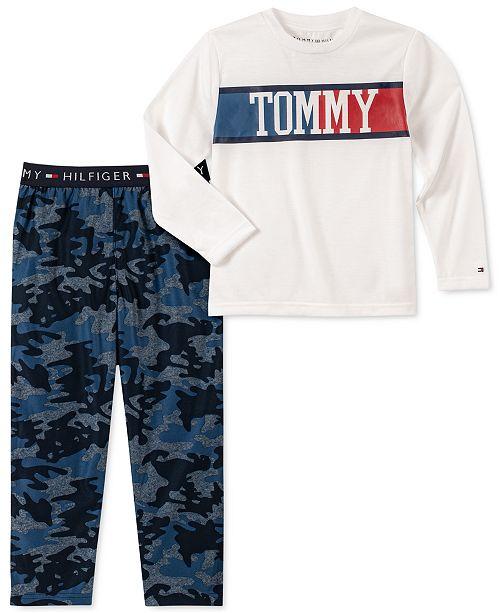 Tommy Hilfiger Toddler, Little & Big Boys 2-Pc. Camo-Print Pajama Set