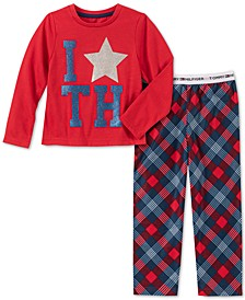Toddler, Little & Big Girls 2-Pc. Plaid Pajama Set