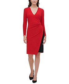 Petite Ruched Sheath Dress