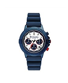 Men's Peak Patrol Blue Silicone Strap Chronograph Watch 42mm