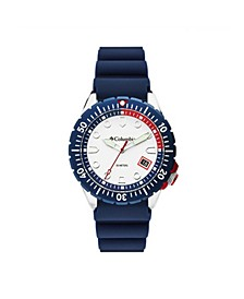 Men's Pacific Outlander Blue Silicone Strap Watch 42mm