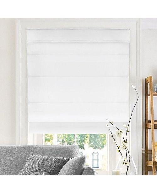 "Chicology Cordless Roman Shades, Soft Fabric Window Blind, 29"" W x 64"" H"