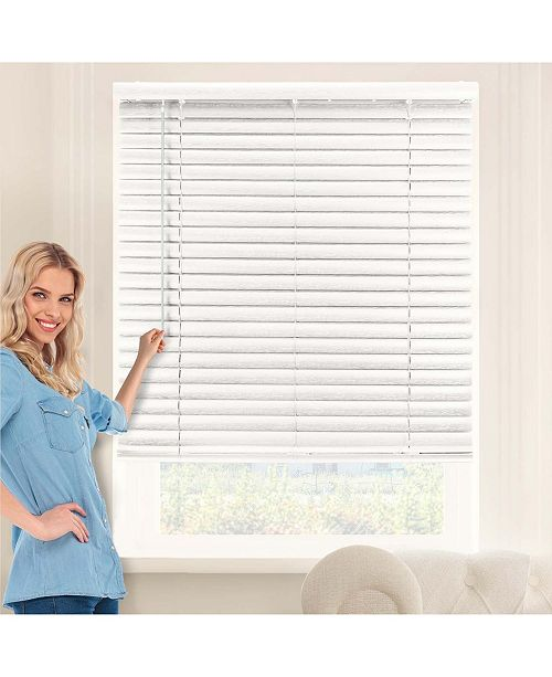 "Chicology Cordless 2"" Vinyl Blinds, Horizontal Venetian Slat Window Shade, 70"" W x 64"" H"